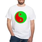 Alien Yin-Yang White T-Shirt
