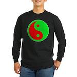 Alien Yin-Yang Long Sleeve Dark T-Shirt