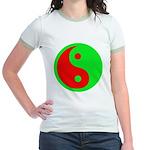 Alien Yin-Yang Jr. Ringer T-Shirt