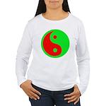 Alien Yin-Yang Women's Long Sleeve T-Shirt