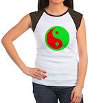 Alien Yin-Yang Women's Cap Sleeve T-Shirt