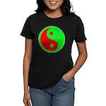 Alien Yin-Yang Women's Dark T-Shirt