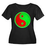 Alien Yin-Yang Women's Plus Size Scoop Neck Dark T