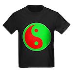 Alien Yin-Yang Kids Dark T-Shirt