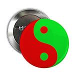 """Alien Yin-Yang 2.25"""" Button"""
