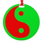 Alien Yin-Yang Round Ornament