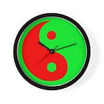 Alien Yin-Yang Wall Clock