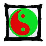 Alien Yin-Yang Throw Pillow