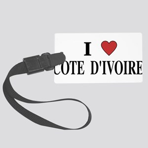 I Love Cote d'Ivoire Large Luggage Tag