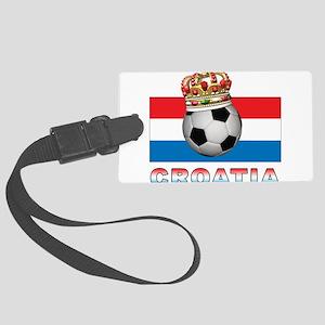 Croatia Football Large Luggage Tag