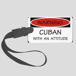 Attitude Cuban Large Luggage Tag