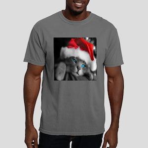 Christmas Kitten Mens Comfort Colors Shirt
