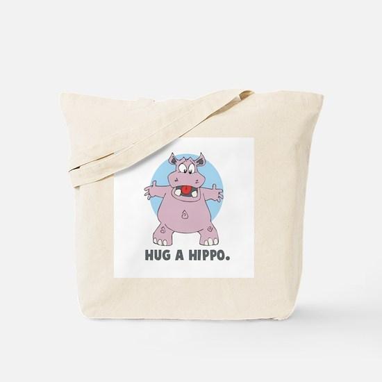 Hug a Hippo Tote Bag
