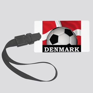 Denmark Football Large Luggage Tag