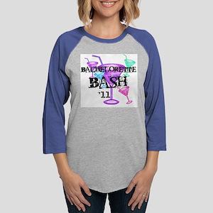 11bachelorettebashmartiniglass Womens Baseball Tee