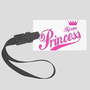 Fijian Princess Large Luggage Tag