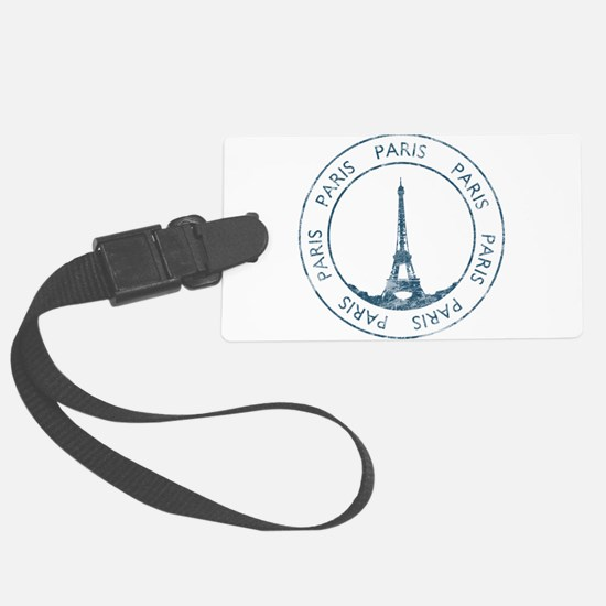 Vintage Paris Large Luggage Tag