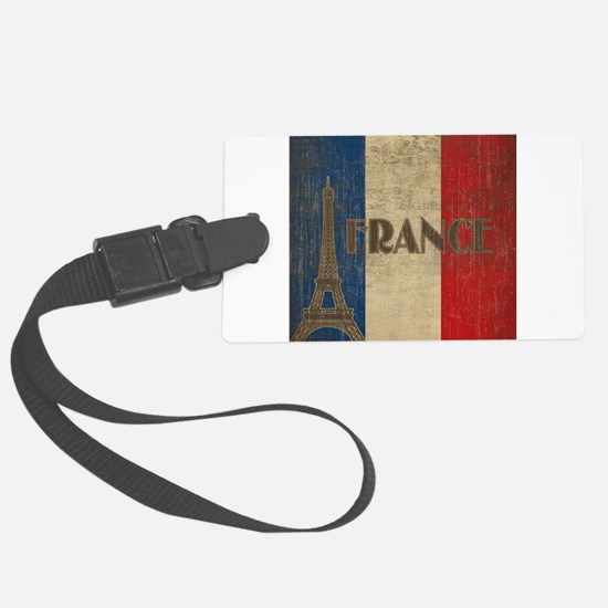 Vintage France Luggage Tag