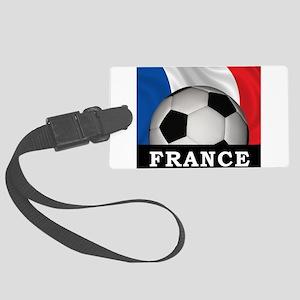Football France Large Luggage Tag