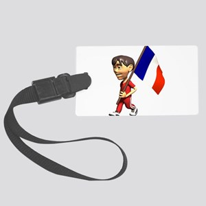 3D France Large Luggage Tag