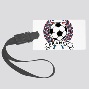 Soccer France Large Luggage Tag