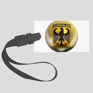 Deutschland Football Large Luggage Tag