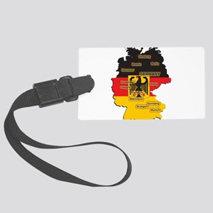 Germany Map Large Luggage Tag