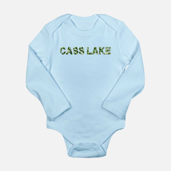 Cass Lake, Vintage Camo, Long Sleeve Infant Bodysu