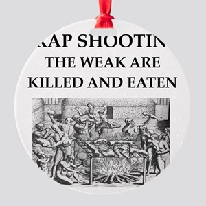 trap shooting Round Ornament