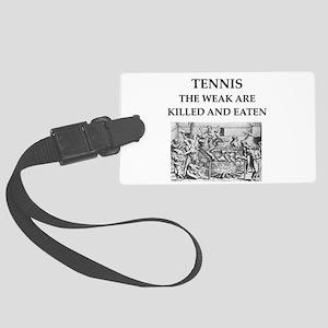 tennis Large Luggage Tag