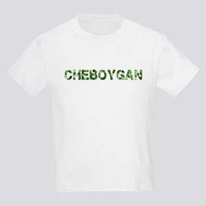 Cheboygan, Vintage Camo, Kids Light T-Shirt