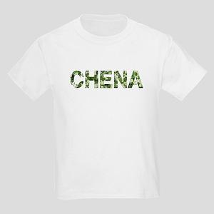Chena, Vintage Camo, Kids Light T-Shirt