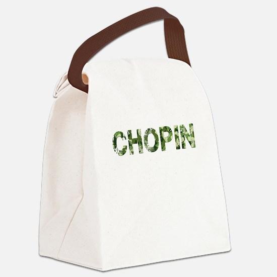Chopin, Vintage Camo, Canvas Lunch Bag