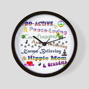HippieGrandma Wall Clock