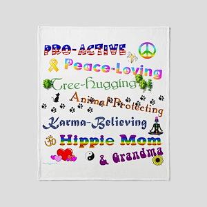 HippieGrandma Throw Blanket