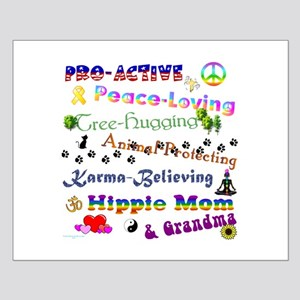 HippieGrandma Small Poster