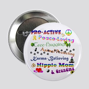 "HippieGrandma 2.25"" Button"