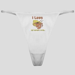 I Heart (love) my Hermit Crab Classic Thong