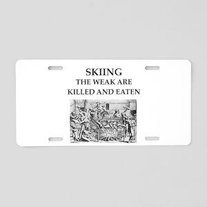 skiier Aluminum License Plate