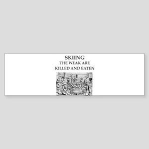 skiier Sticker (Bumper)