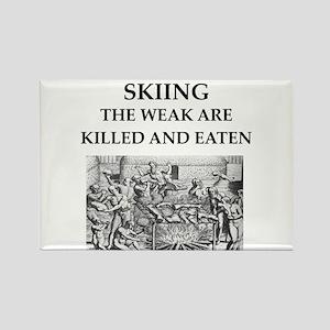 skiier Rectangle Magnet