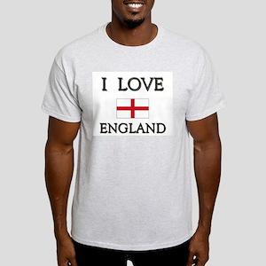 I Love England Ash Grey T-Shirt