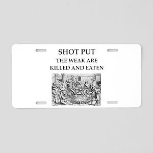 shot put Aluminum License Plate