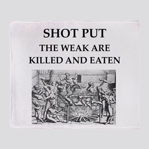 shot put Throw Blanket