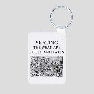 skating Aluminum Photo Keychain