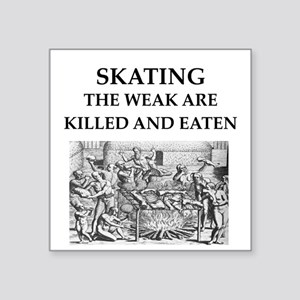 "skating Square Sticker 3"" x 3"""
