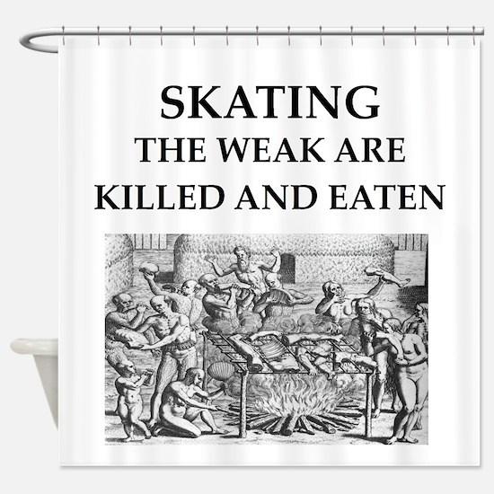 skating Shower Curtain