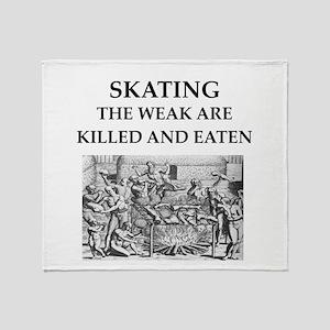 skating Throw Blanket