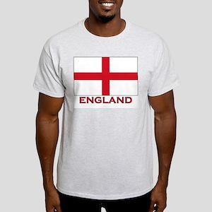 England Flag Merchandise Ash Grey T-Shirt