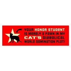 Cat World Domination -(shorthair) Bumper Bumper Sticker